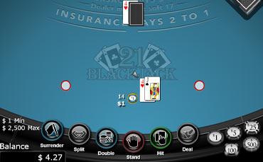 Bovada Practice Blackjack